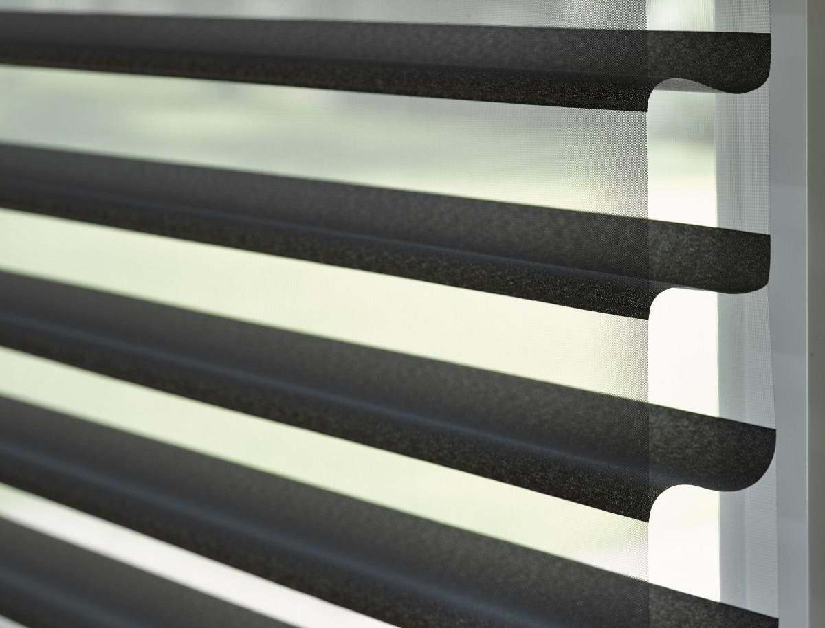 Luxaflex Silhouette 75mm Vane Grey/Black